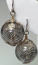 Spiral Ball Earrings