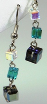 Swarovski Cube Drop Earrings